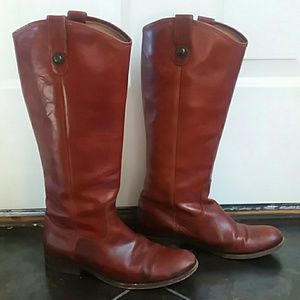 FRYE Cognac brown riding boots